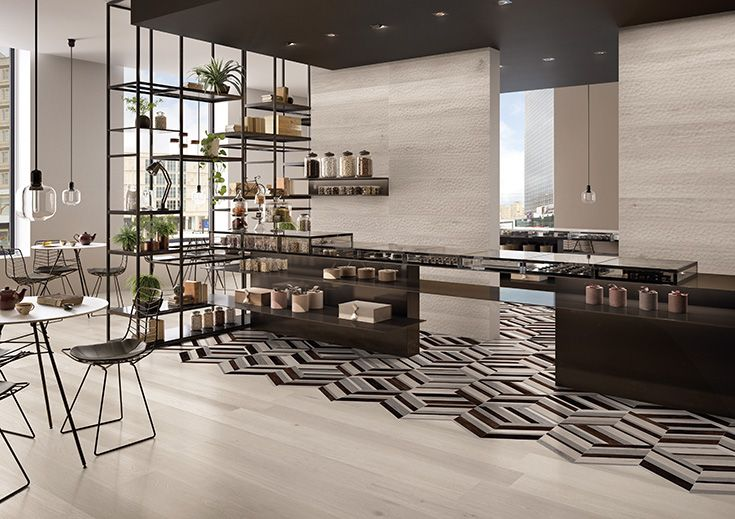 Provoak by #provenza #emilgroup #tiles #ceramics #floortiles #interiordesign #madeinitaly #architecture #style #chocolaterie #woodeffect #comfort #chevron