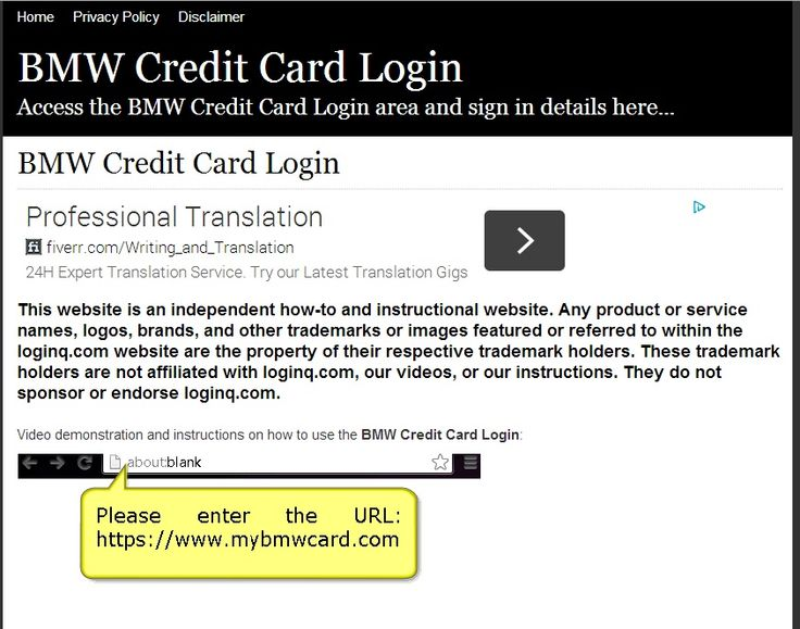 Secure Login | Access the BMW Credit Card login here. Secure user