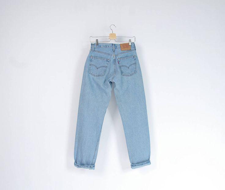 90s Levi's 517 ultra light wash denim street style pants / Size W29 L32 by Only1Copy on Etsy