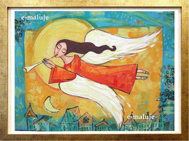 e-maluje Anioły ...: Anioł nad miastem ...