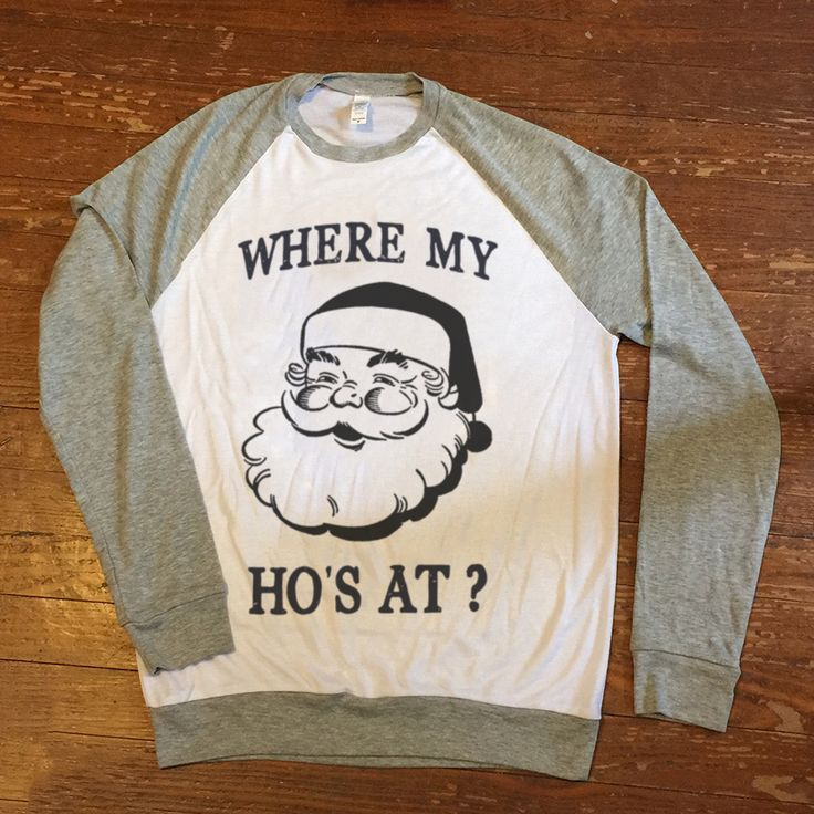 Holiday ugly christmas sweater Where my ho's at - funny Unisex / Mens pullover sweatshirt ladies girls womens
