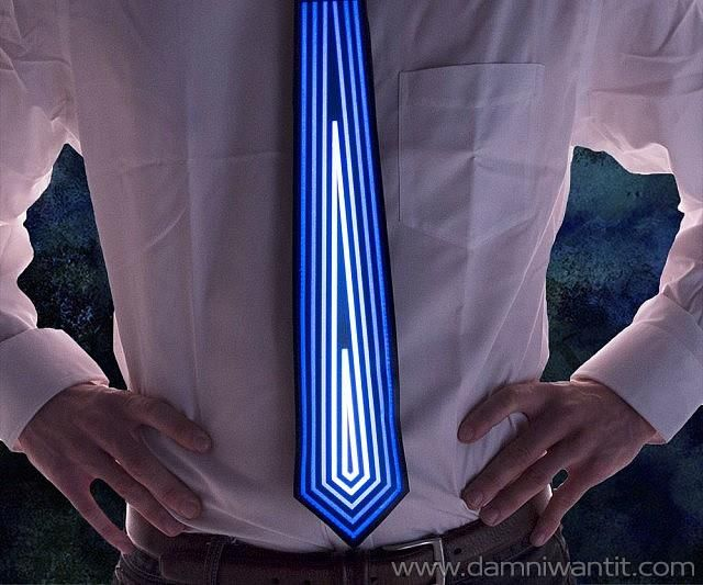 Stand out in the crowd at that fancy office parties with this amazing LED Animated Neck Tie with patterns of blue diamonds. The tie is also sound responsive, so it is activated anytime you are starting a conversation with someone. Imagine their surprised face when they see your tie coming to life. Or even better, when there's music, the tie will bounce in the rhythm, how cool is that?