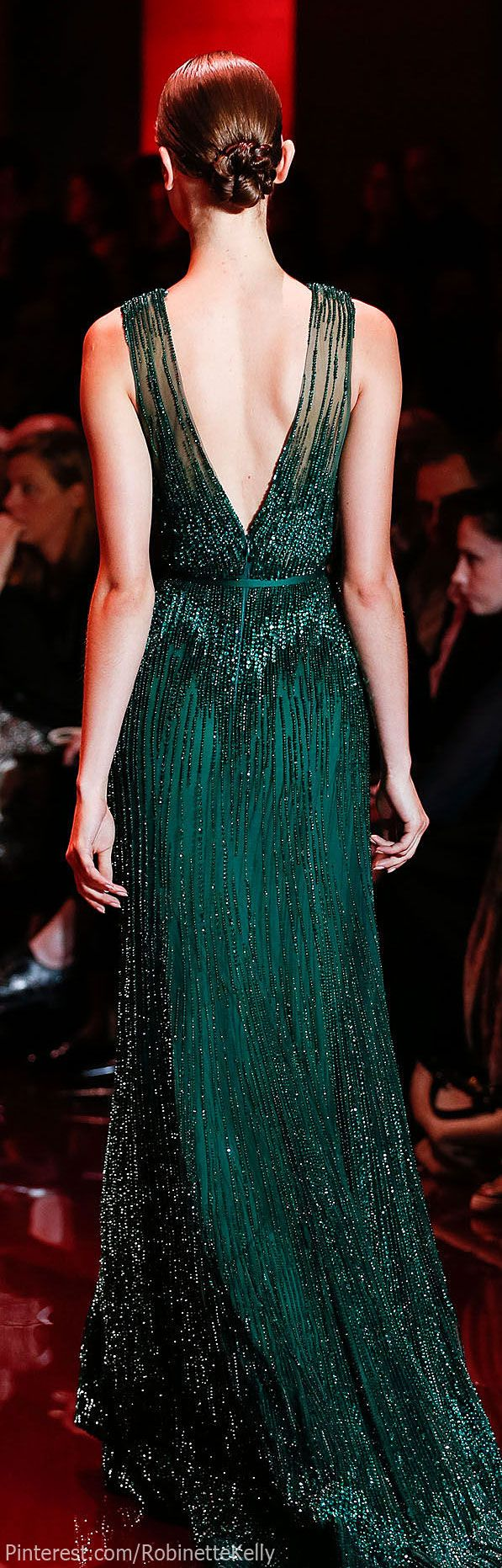 Elie Saab, f/w 2015 | Couture. Emerald green gown. Lovely dress jjdress.net Not to toot my own horn but I'd look dang good in this dress.