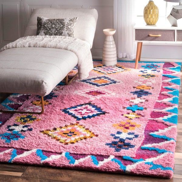 nuLOOM Soft and Plush Handmade Moroccan Pink Shag Rug (7'6 x 9'6)