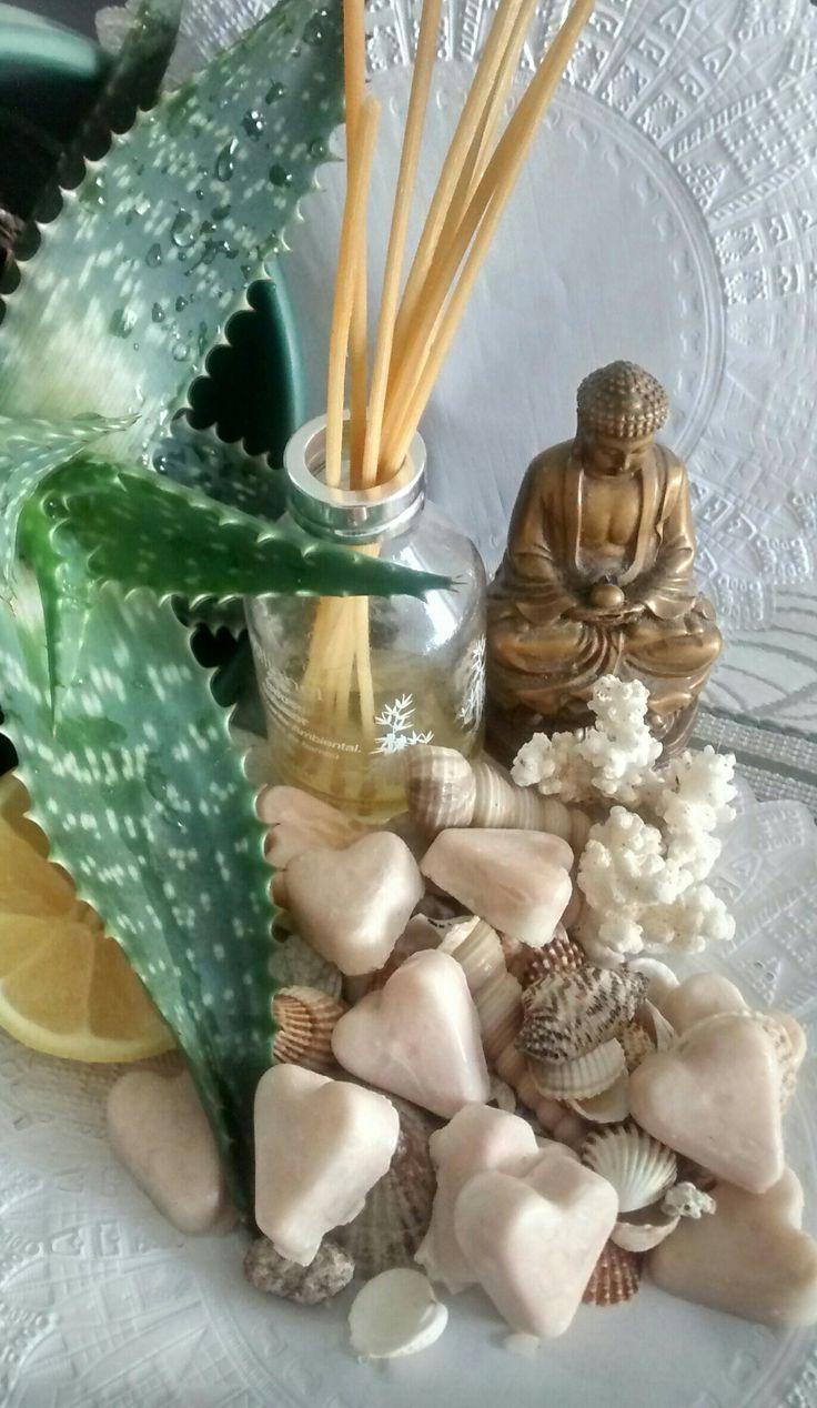Jabones corazones,naturales artesanales, de Aloe Vera y Limón.