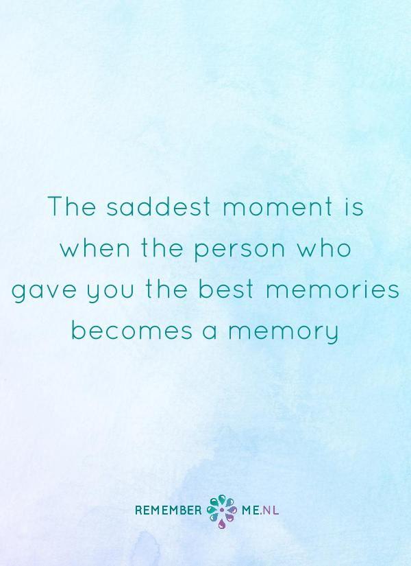 Ik koester de mooie herinneringen aan jou. | Een quote over het afscheid, het verdriet en het gemis na de dood van een geliefde. Vind meer inspiratie over de uitvaart en rouwen op http://www.rememberme.nl