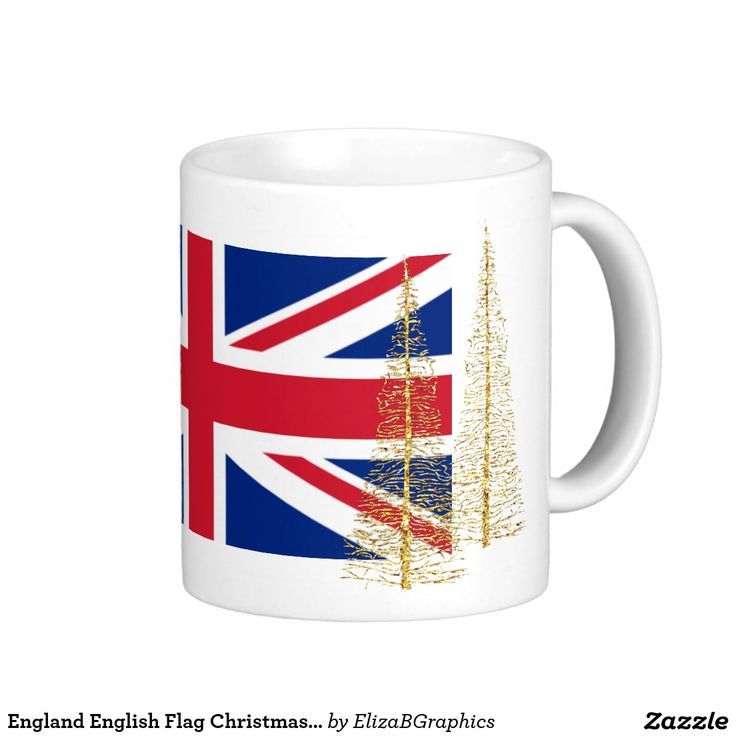Every year we make Christmas mugs with photos from the previous Christmas. Last year we were in jolly old England with family. Naturally, for this year's mug we used the English flag.  #England #English #Flag #Christmas #mug #UnionJack