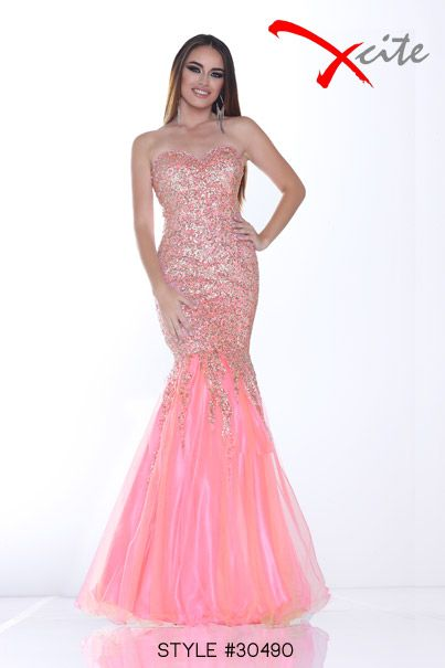 Xcite Prom 2014 Collection Style #30390 #prom #dress #pink