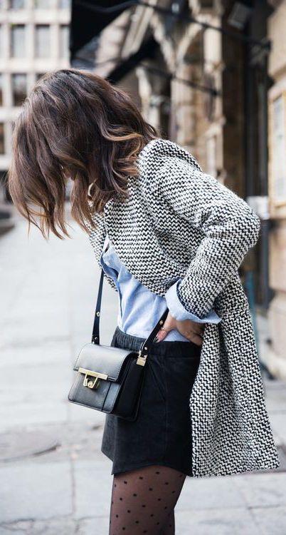 #street #style tweed coat @wachabuy