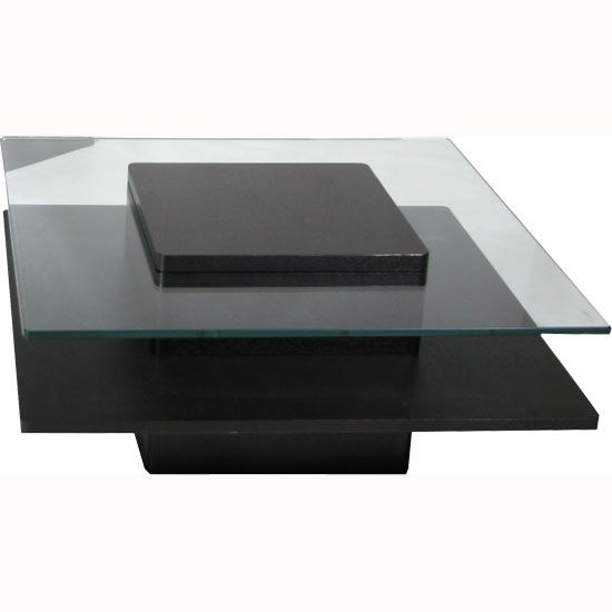 hong kong black coffee table in ash wood veneer