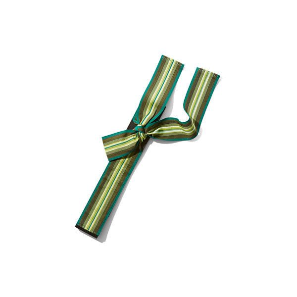 Eva Mendes Collection Grosgrain Bow Belt ($17) ❤ liked on Polyvore featuring accessories, belts, green, bow belts, green belt, fake belts and snap belt