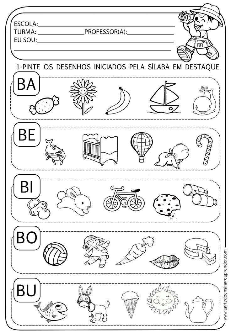 A Arte de Ensinar e Aprender: Atividade pronta - Família silábica do B