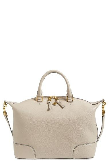 frances slouchy leather satchel / tory burch