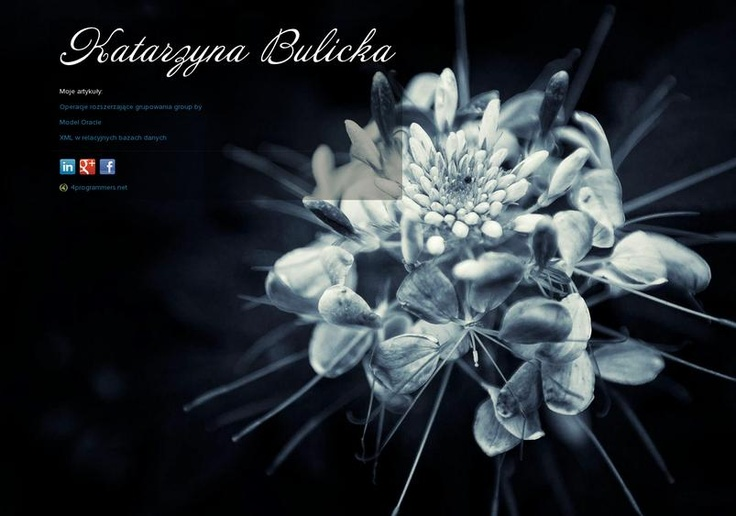 Katarzyna Bulicka's page on about.me – http://about.me/bulicka.alexandra