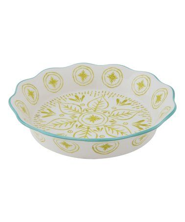 Loving this Blue \u0026 Yellow Hand-Painted Pie Dish on #zulily! #zulilyfinds  sc 1 st  Pinterest & 585 best Pretty Plates/Bowls/Platters/Chargers/ Display Stands ...