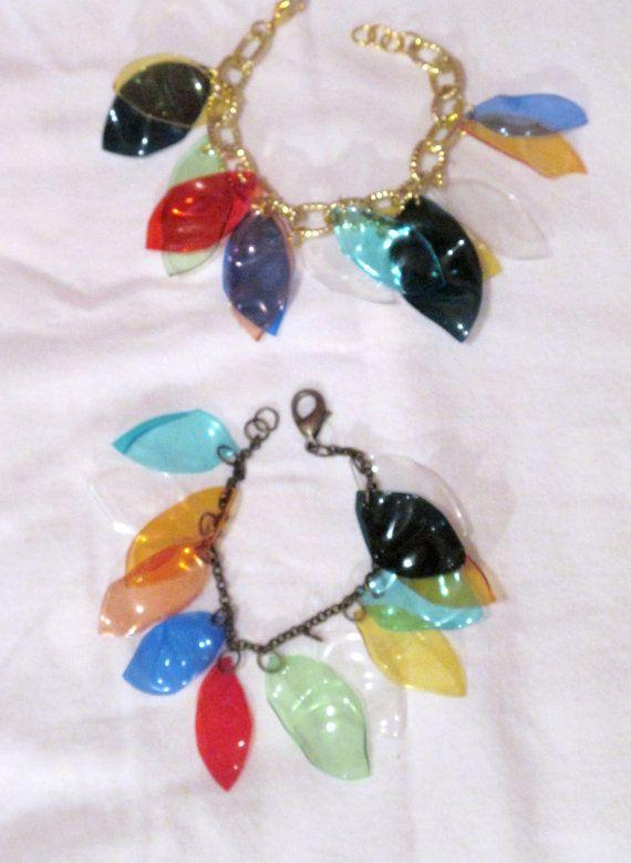 Recycled plastic bottles bracelet by giovannacargnelli on Etsy, €12.00