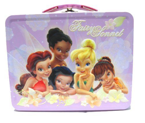 "Tinkerbell Fairy Sonnet Metal Girls Tin Lunch Box by Tin Box. $8.50. This cool lunchbox will be your Tinkerbell fans favorite accessory!!!. It has a secure clasp, and a hinged top that opens completely for putting all his favorite treasures inside!!!   This is so cute, and your little Tinkerbell fan will LOVE it!!!. SIZE: 8 "" X 6"" X 2.5"". This will make a perfect gift for holidays, birthdays, or just because!!!. This cool lunchbox will be your little Tinkerbell fan's ..."