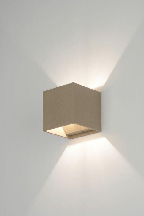 Applique Murale 71785 Moderne Design Taupe Acier Luminaires En