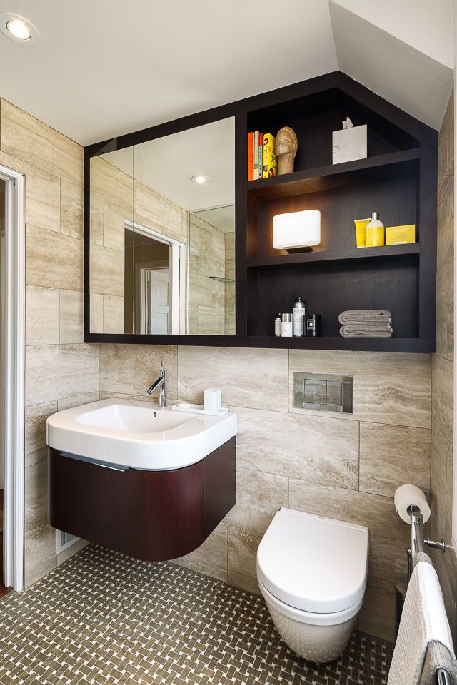 His U0026 Her Master Bathrooms, Astro Design Centre   Ottawa Contemporary  Bathroom    Love The Mirror And Shelving.