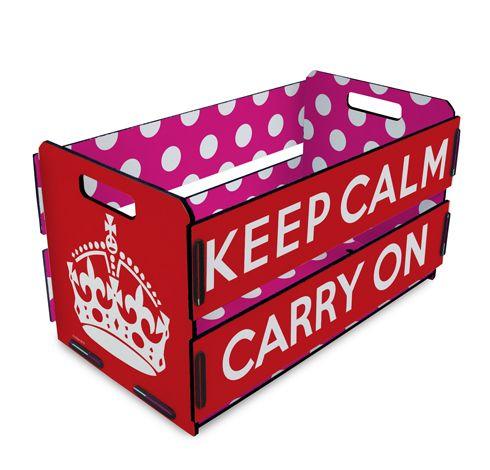 Caixote de Feira estampa Keep Calm, by I-Stick