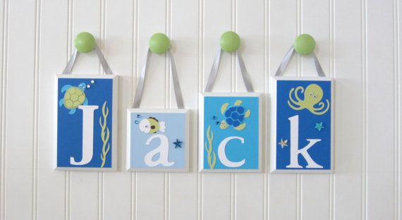 ROUTED EDGE  Name Blocks  Nursery Name by OhMyButtonsAndBows, $13.00