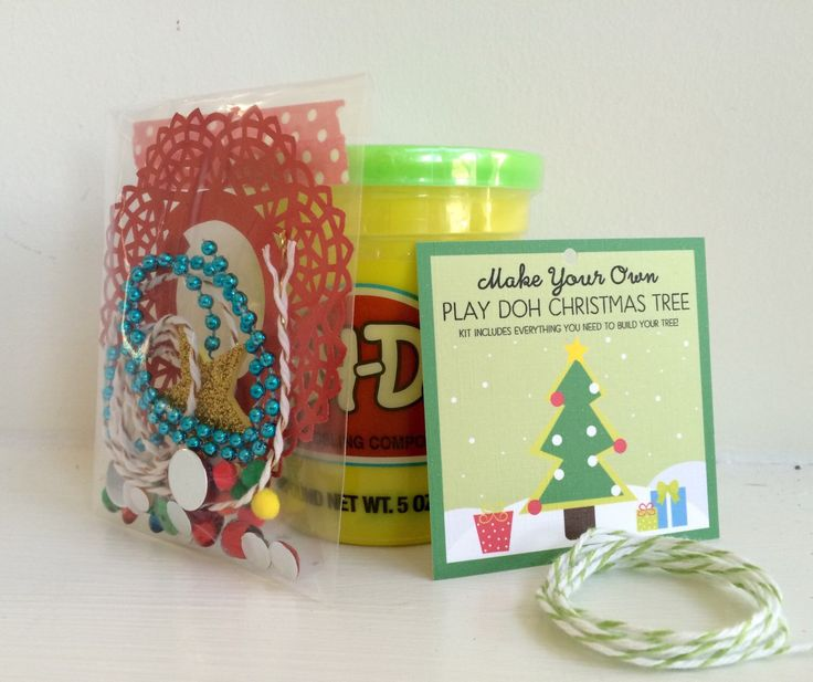 Christmas Tree Kit - Playdoh Christmas Tree Kit - Preschool Gift - Playdough…