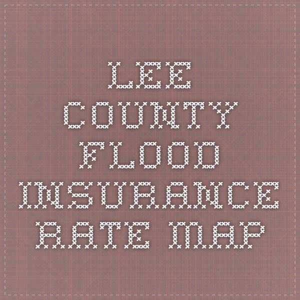 Lee County Flood insurance rate map