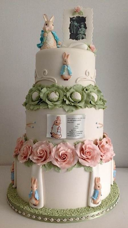 Wedding Cake by Cake Central Member PeterRabbit - Cake Wrecks - Sunday Sweets: Some Bunnies To Love