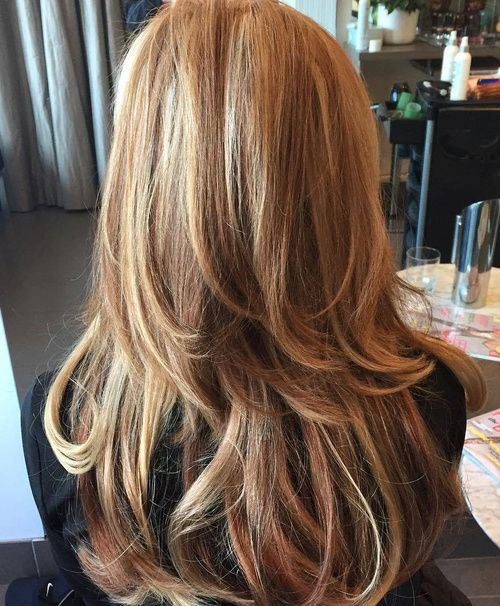 Two-Level Layered Hairstyle For Long Hair  - dramatic layers