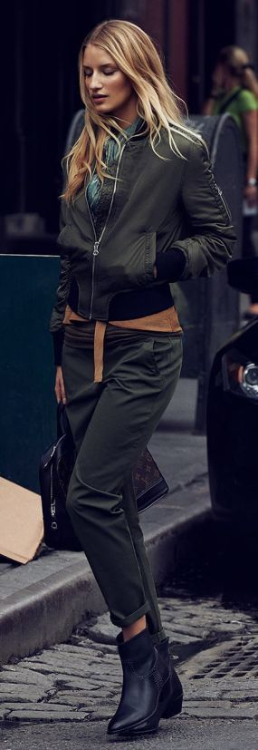 Army Green Military Suit by Because Im Addicted