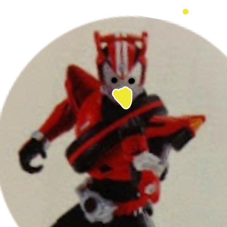 Kamen Rider Drive's leaked picture. Add eyeballs & a beak, it becomes Angry Bird.