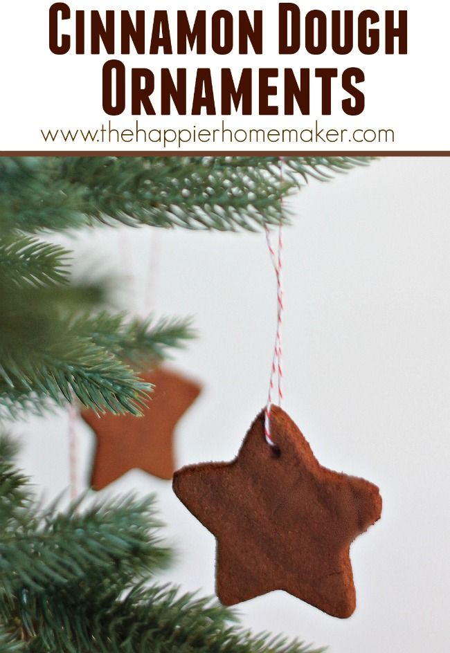 Cinnamon Dough Christmas Ornaments- only two ingredients in the recipe and they smell amazing!!!