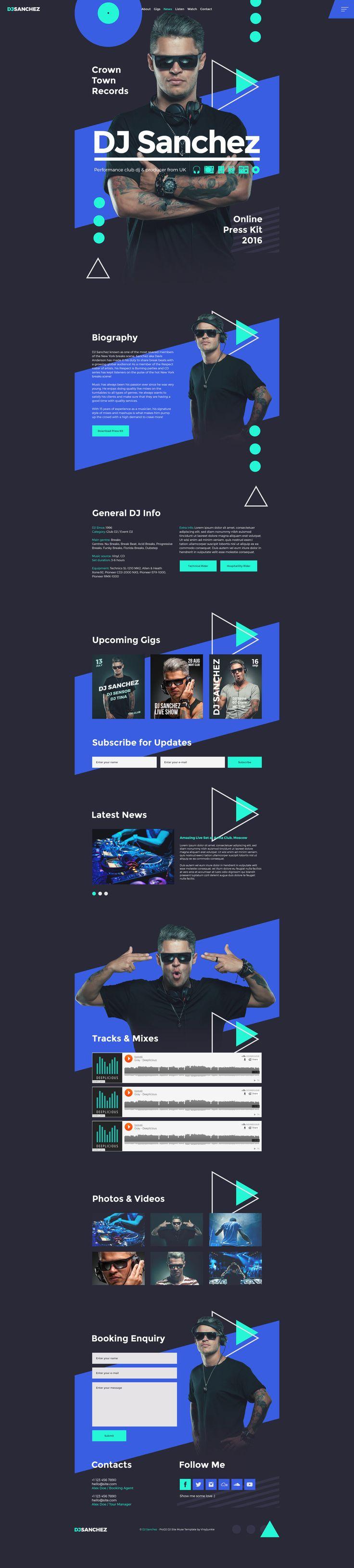 best 25 dj website ideas on pinterest