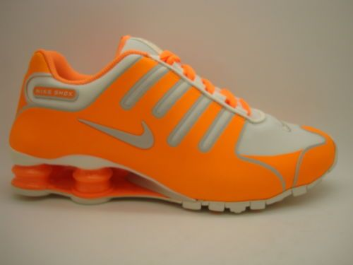 nike shox neon orange and grey