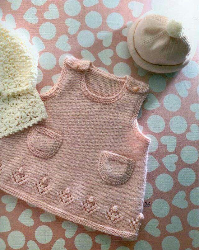 181 best ropa de bebe images on Pinterest | Baby stricken, Gehäkelte ...