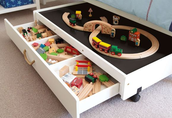 exclusive gltc :: underbed kids' play table http://www.e-glue.fr/now/toy-plush/underbed-kids-play-table/6264 #children #design #furniture