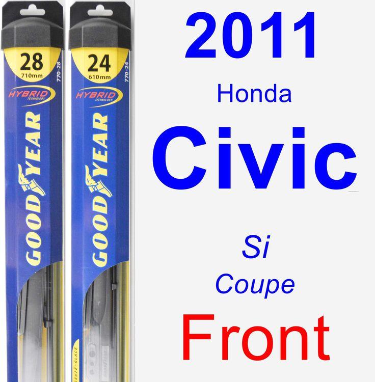 Front Wiper Blade Pack for 2011 Honda Civic - Hybrid