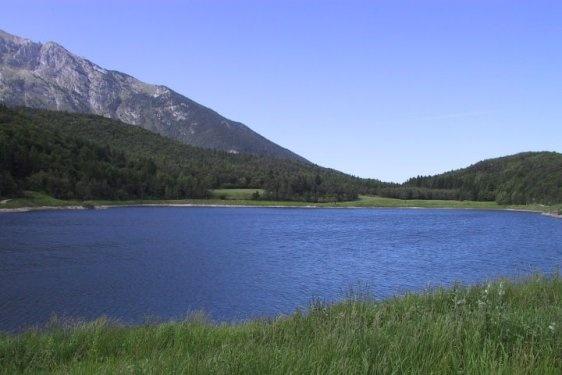 Andalo little lake, Trentino Alto Adige, Italy