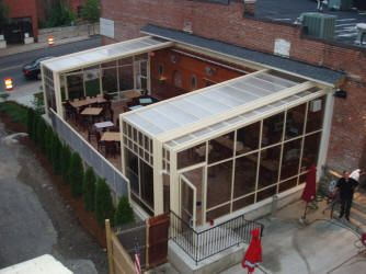 Trackless Retractable Enclosures Roll A Cover Sunrooms