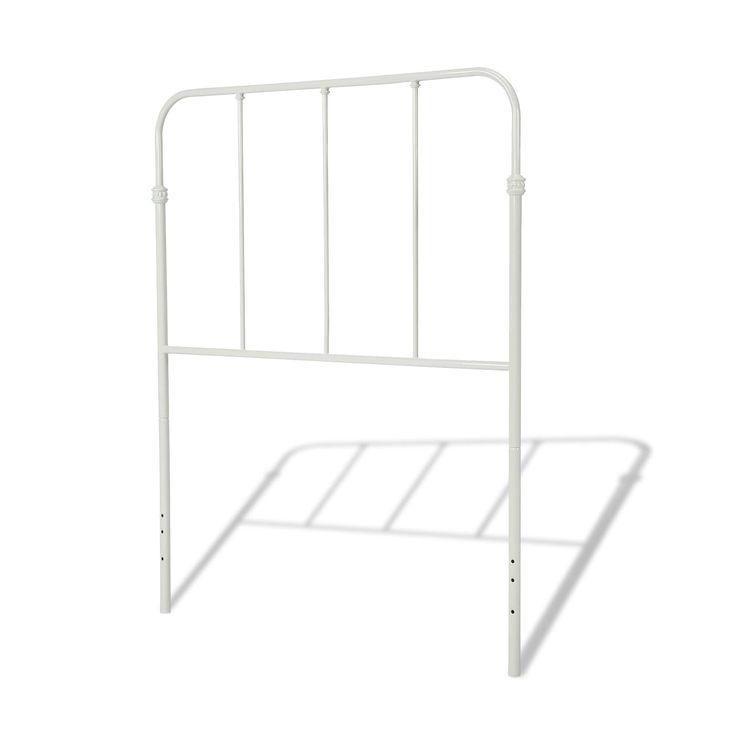 Fashion Bed Group Nolan Metal Kids White Headboard Panel (Under 45 Inches - Twin - 38.75)