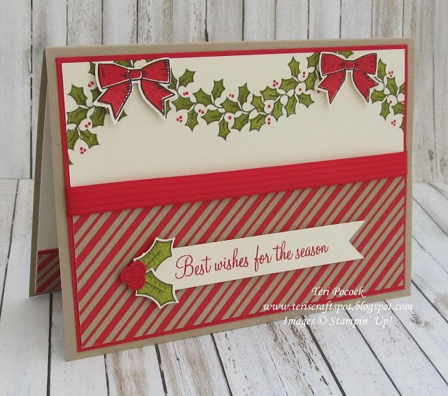 Holly Berry Happiness - Garland Card