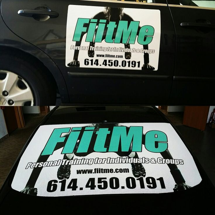 Combo perforated rear window graphic and magnetic signs make a great package