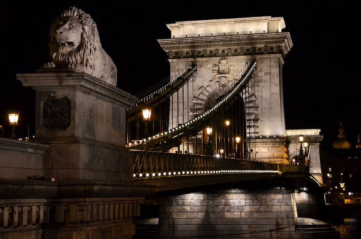 """The Széchenyi Chain Bridge in Budapest, Hungary"" by Michael Spires."