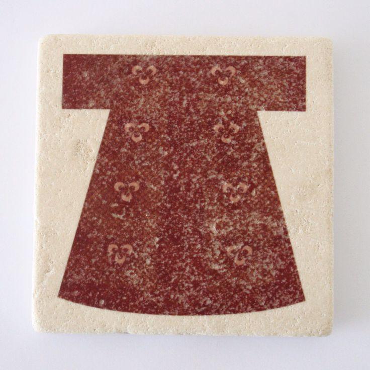 Red Kaftan Design Stone Coaster