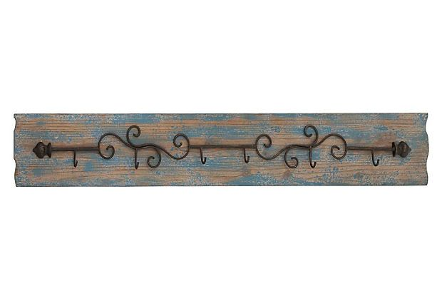 Wall Hook Rectangular Shaped And White Wooden Board