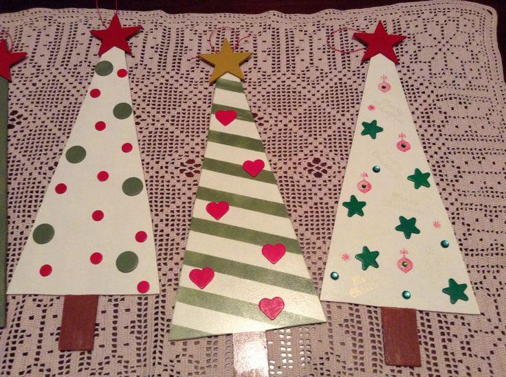 Mas ideas para decorar los arbolitos de navidad en madera