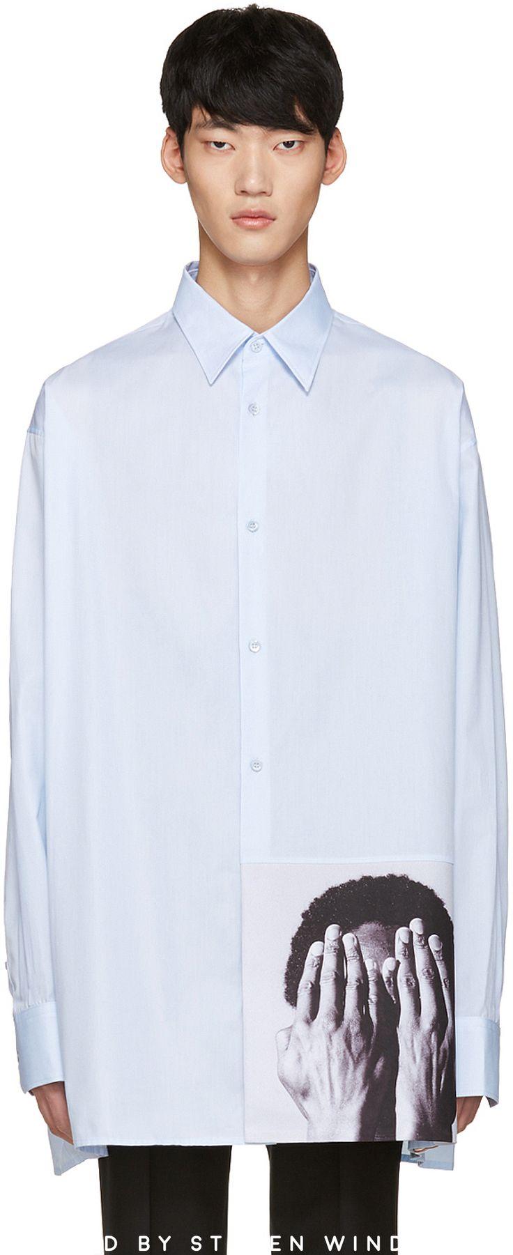 Raf Simons - Blue Robert Mapplethorpe Edition Alistair Oversized Shirt #shirts #rafsimons