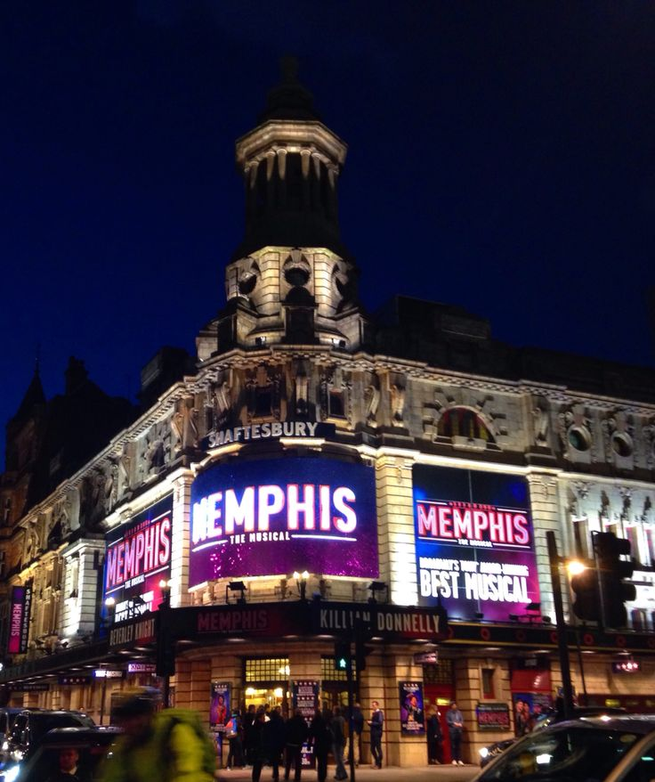 Memphis shaftesbury theatre london 2015 with images
