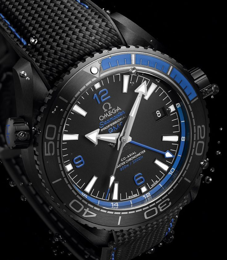 Omega - Seamaster Planet Ocean GMT Deep Black, ref.215.92.46.22.01.002 - Self-winding, cal.Omega 8906, 3.5Hz, 60hr p.r., date, GMT - 45.5mm, ceramic case & bezel, black dial ~9.5k