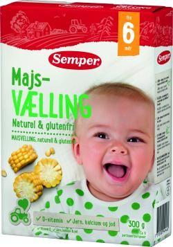 majsvælling til baby